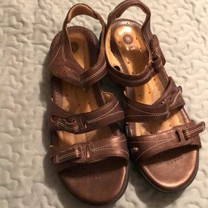 Sandals with Velcro adjustable straps